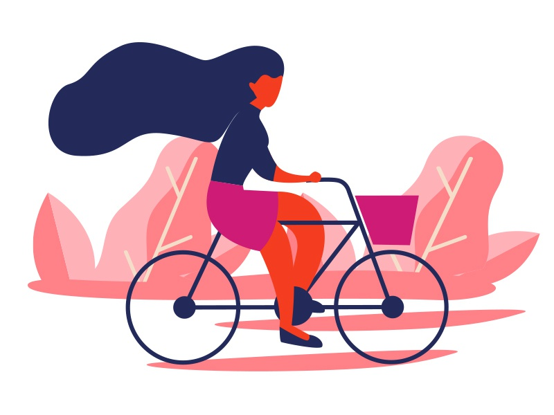 Illustration 02 concept cycle design cycle women design art ui art work illustration design