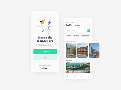 Travel Agency app design concept agency travel ios concept app design app