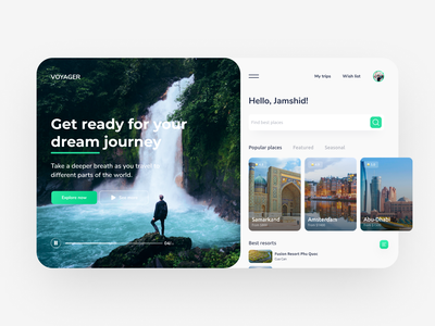 Travel website design concept travel creative webdesign color dribbblers uidesign userinterface userexperience