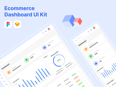 Ecommerce Dashboard UI Kit dashboard designsystem uikit ecommerce design ecommerce