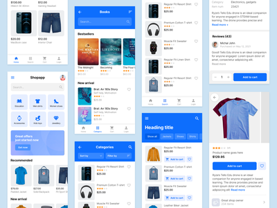 E-commerce mobile UI Kit gumroad sale product app shop ecommerce