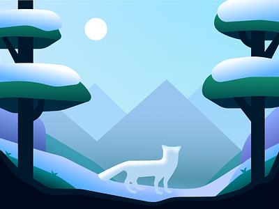 The Tundra affinity designer illustration arctic fox