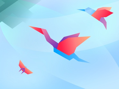 Origami paper origami butterfly bird nature affinity designer illustration
