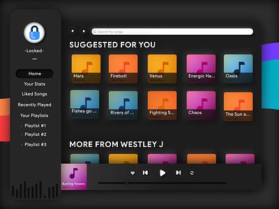 Neuromorphism Music Desktop App music