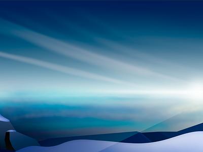Endless Skies clouds cliff snow nature affinity designer illustration