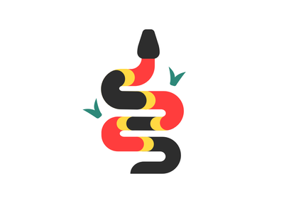 Coral Snake illustration reptile serpent