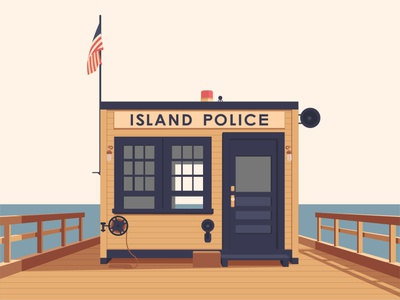 police island at moonrise kingdom illustration movie poster movies island police police moonrise kingdom graphic design still photo wes anderson film design vector flat illustration