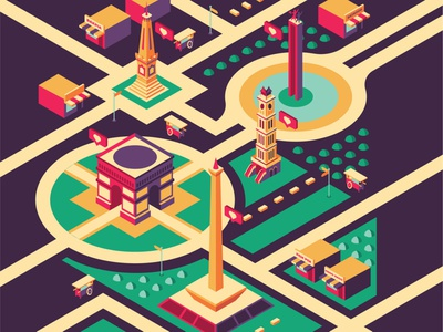 indonesia banyak rasa submission for good day coffee isometry isometric art isometric illustration isometric design vector art vector illustration design flat illustration vector