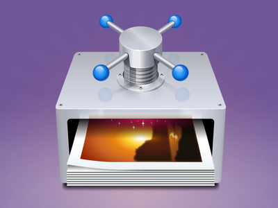 Imageoptim icon mac os icon device screw image optimisation compress violet