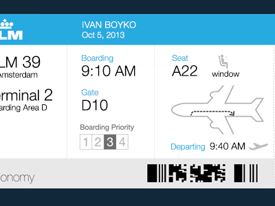 Boarding Pass Improved boarding pass flight everyday things