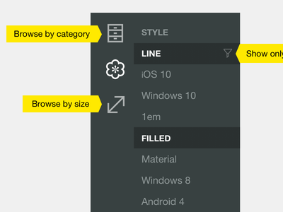 Hint-Centered Design wpf icons icons8 windows