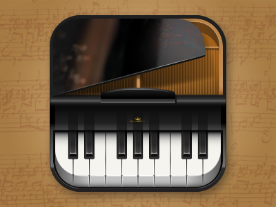 Piano iOS icon piano ios icon ios icon music instrument play orchestra grand concert hall symphony keyboard