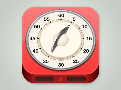 iOS Icon for a timer app ios icon tic toc timers timer icon clock time management red square reminder alarm clock