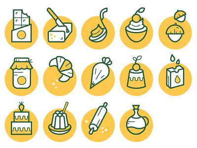 Master Martini icons set catalogue icon illustration