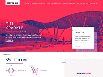 Homepage Sparkle icon design web