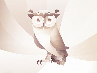 Aigle, the diligent owl. illustration animals owl