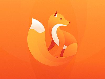 Jude, the gentle fox. animals fox illustration