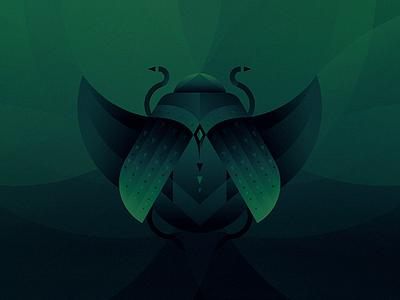 Otto animals scarab roach illustration