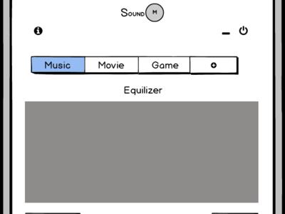 Sound Manager App Max balsamiq music application smartphone ui ux mockup design wireframe