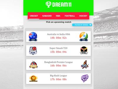 Dream11 App Redesign