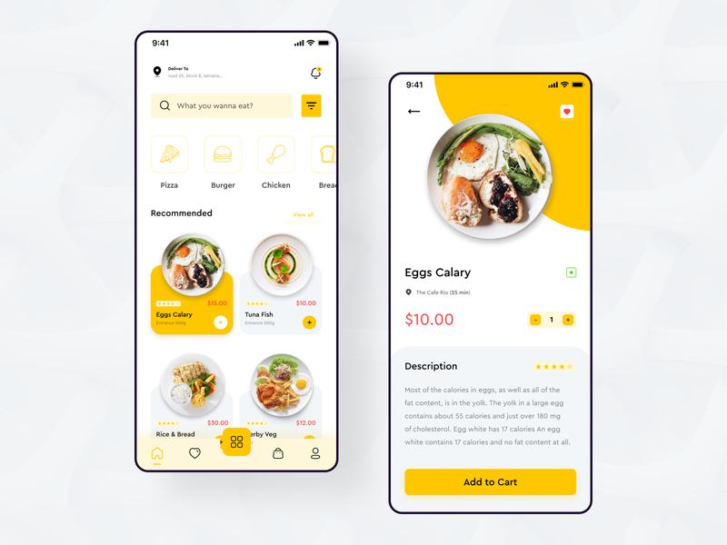 Food Delivery App ios design uiux ux design ui design app design