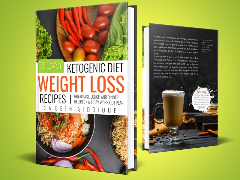 21-day Ketogenic diet weight loss recipes Book cover