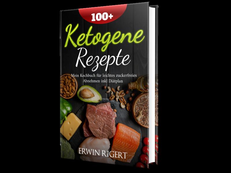 100+ ketogene Rezepte Book cover