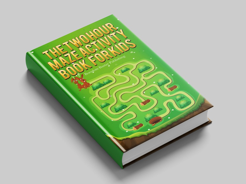 The TWO HOUR Maze Activity Book FOR KIDS book Cover