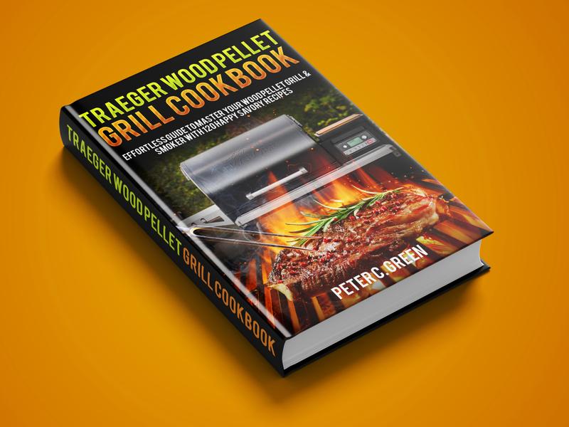 Traeger Wood Pellet book cover branding icon logo earth diet killer kill war vector flat depression illustration design cover design cover book