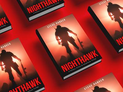 Nighthawk Book cover diet killer kill war vector flat depression illustration design cover design cover book