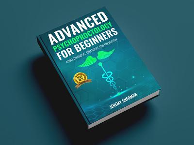 Advanced Psychoproctology for Beginners Book cover diet killer kill vector war flat depression illustration design cover design cover book