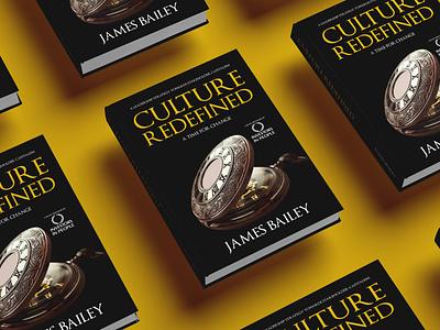 Culture Redefined Book cover ui branding logo vector flat depression illustration design cover design cover book