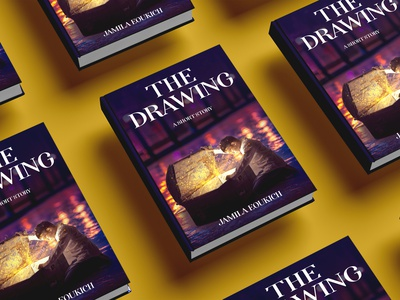 The drawing Book cover branding ui logo flat vector depression design illustration cover design cover book the drawing book cover