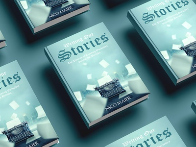 Writing Our Stories book cover branding ui logo flat vector depression illustration design cover design cover book