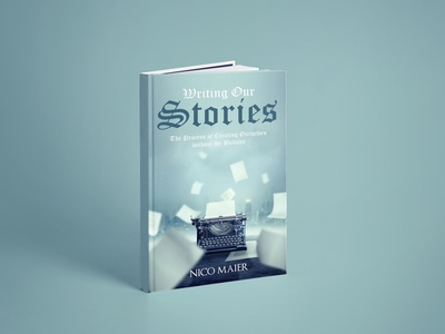 Writing Our Stories Book cover branding ui logo flat vector depression illustration design cover design cover book writing our stories book cover