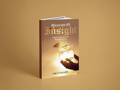 Moments Of Insight Book Cover branding ui logo vector flat depression illustration design cover design cover book