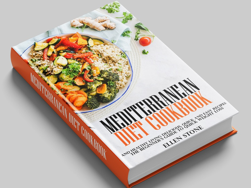 Mediterranean Diet Cookbook Cover by Ahmed Moghazy on Dribbble
