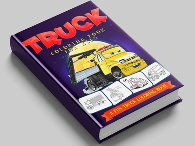 Truck coloring book cover