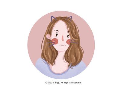 girl 10 icon illustration design design illustration art banner design illustration