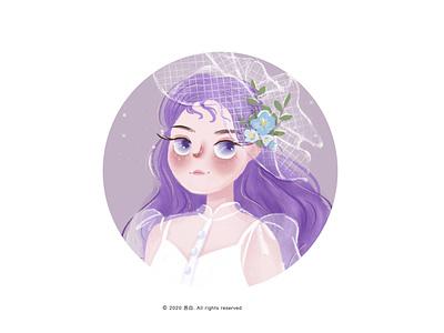 girl13 design  draw ui design illustration