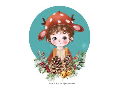 圣诞宝宝 illustration design illustration art banner design design illustration