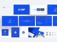 Ewp Logo Design ewp specification ui platform logo blue design illustration