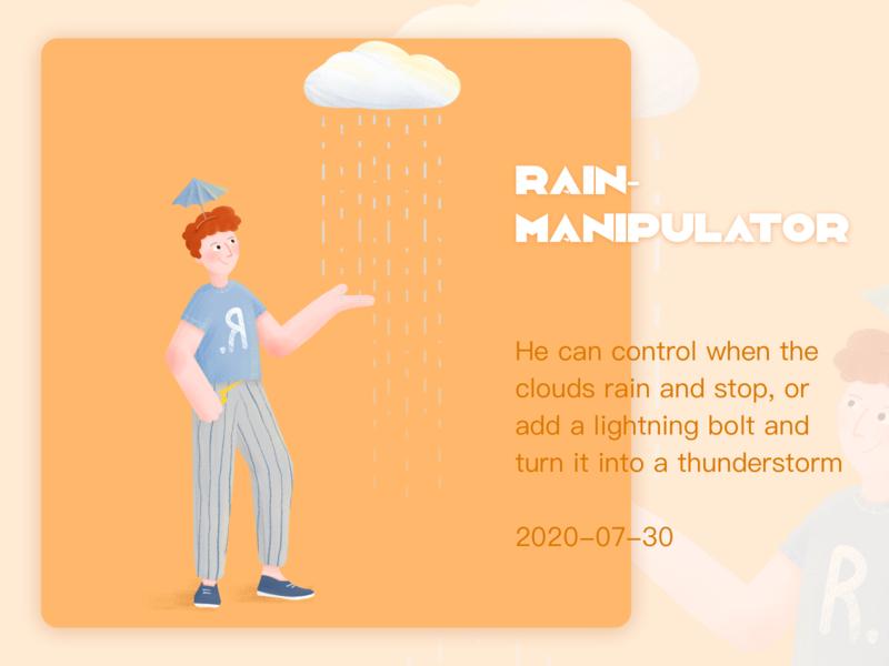 奇妙职业--控雨师 手绘 插画练习 插图