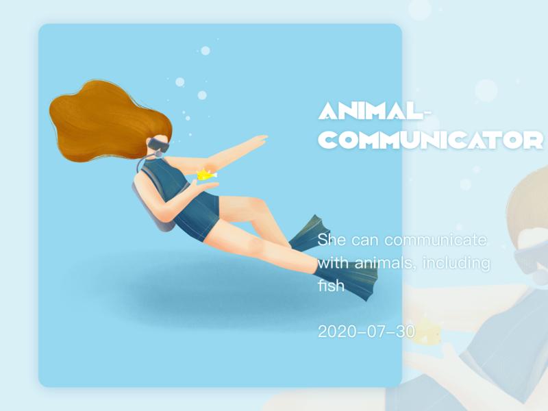 奇妙职业--动物沟通者 手绘 插画练习 插图