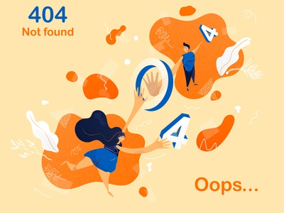 Oops.. 404 Page Not Found flat  design weekly warm-up digital art illustration illustrator vector web website digital design 404 page 404 not found 404 error page