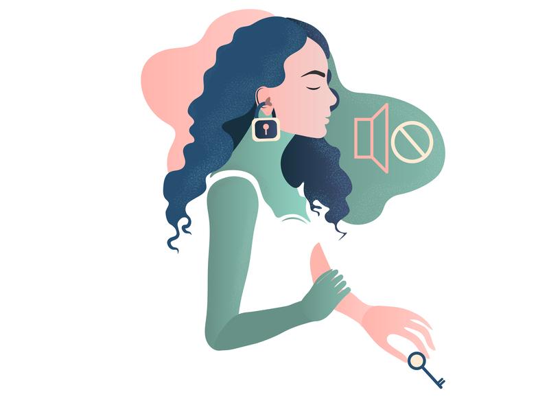 Deaf culture website branding design logo vector ui web illustration girl character flat  design flat