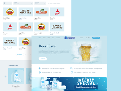 Weekly Special Offer Design interface ice figures order online interaction web design design