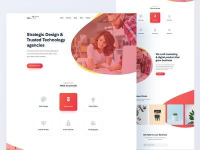 Agency website landing page