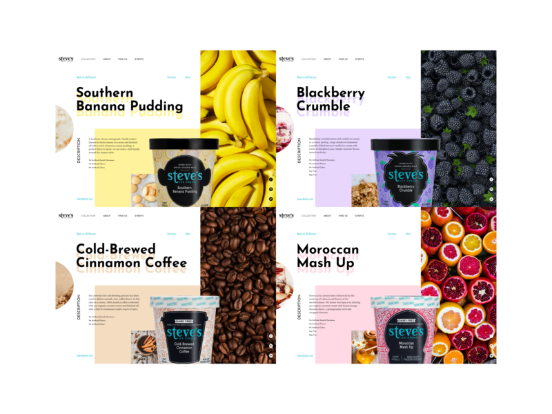 Ice Cream - Product Detail Page visual design food ice cream ui design ui design website design website