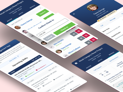 Field Management App case study user story map timesheets figma mobile app